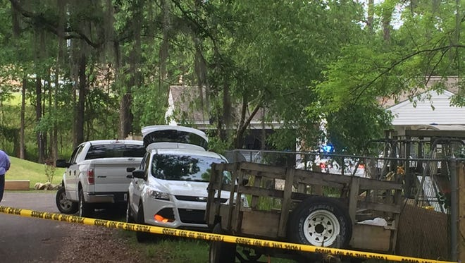The scene of a house fire in west Tallahassee where a Sabal Palm Elementary School teacher died earlier this morning.