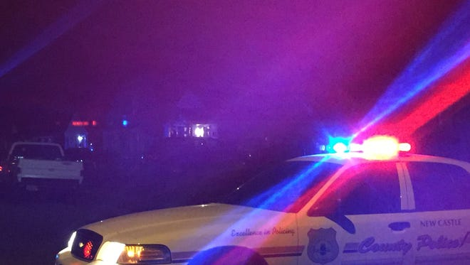 New Castle County police in the 400 block of Singles Ave. Friday night, April 22.