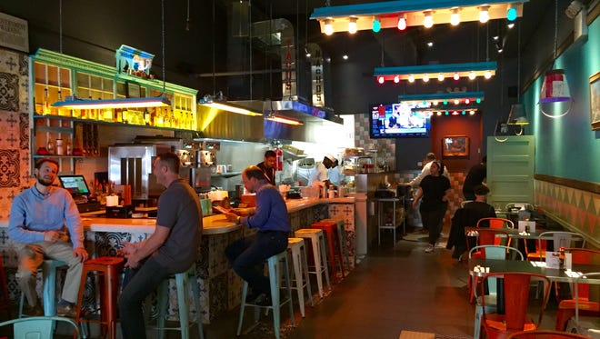 The bar inside Blockheads in White Plains, the chain's first location outside of Manhattan.