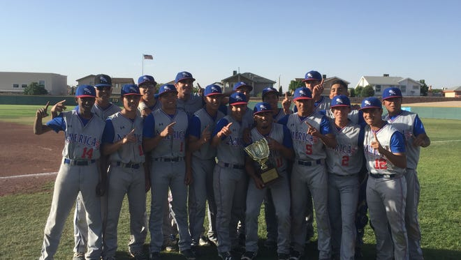 The Americas Trailblazers baseball team clinched the District 1-6A title Tuesday afternoon with a 13-0 win against the El Dorado Aztecs.
