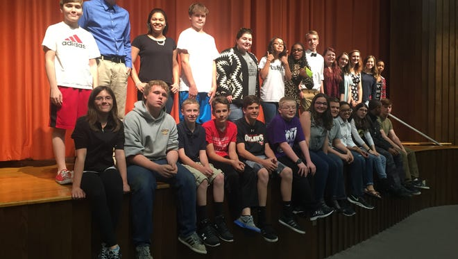 Two students from each Language Arts class participated in this year's poetry slam at Emory H. Markle Intermediate School on Thursday.