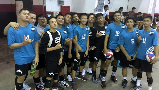 The Southern High Dolphins ended their last game of the IIAAG boys volleyball season with a 25-22,22-25, 25-19 win over the Simon Sanchez Sharks.