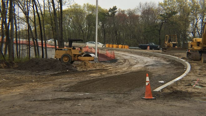 Construction continues on a new entrance/exit ramp, part of a $26 million improvement project on Burnt Tavern Road in Brick, near Exit 91 on the Garden State Parkway.