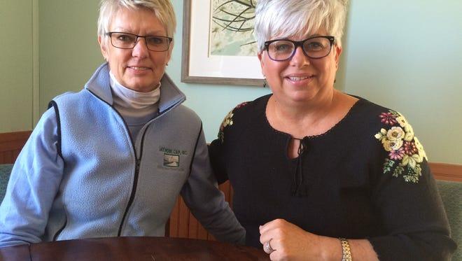 Sandi Soik of Lakeshore CAP and Jane Herlitz of JAK's Place.