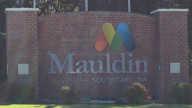 Mauldin city sign