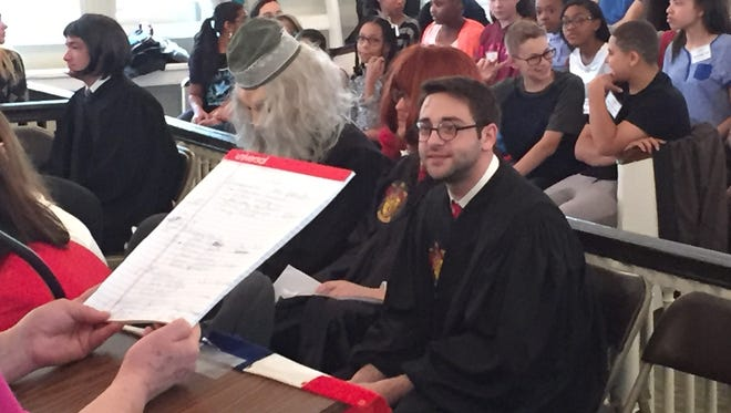 Burlington County Superior Court invited students to the mock criminal trial of Ministry of Magic v. Harry Potter.  Harry is on trial for the murder of Voldemort.