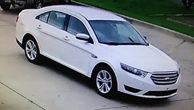 An armed robbery suspect left a Burger King parking lot in Natchitoches in this car on Monday morning.