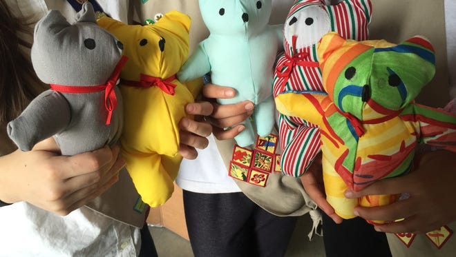 Girl Scout Troop 3060 members spent more than 60 hours sewing handmade bears that will be given by Rutherford County EMS workers to children experiencing traumatic situations.