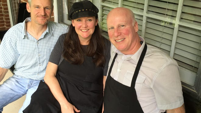 Kitchen Sync owners, from left, Kevin Feeny, his sister, Karin Farrell and his brother-in-law John Farrell.
