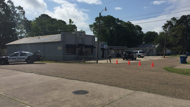 The Lafayette Fire Hazmat unit, the Lafayette Police Department and the State Police Hazmat unit are on the scene of Lamar Properties investigating an old hand grenade found in a storage box.