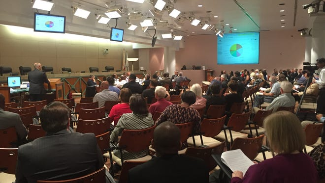 File art from a 2016 City Commission meeting on the budget.