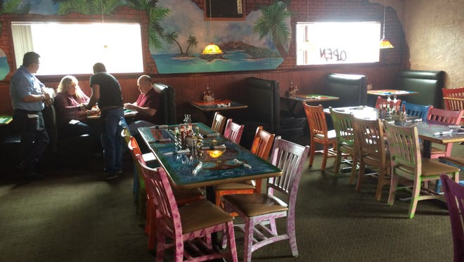 The dining room at  at Jose's Authentic Mexican Restaurant in Adams.