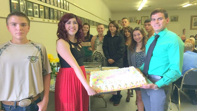 Kiwanis Club of Silver City recognized their students of the year at a banquet Wednesday night at the Masonic Lodge.