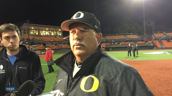 Oregon coach George Horton did not second guess his decision to pitch to Harrison with first base open in the third inning.