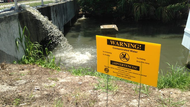 Brevard County had to diver more than 1 million gallons of sewage into a canal Wednesday that connects with the Banana River.Lagoon.