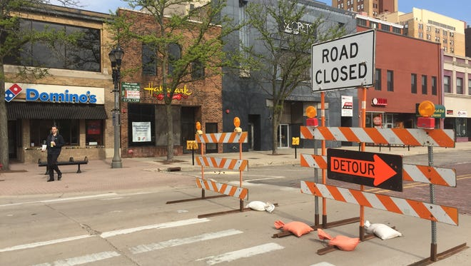 Parts of Washington Square will be closed through May 27 as the Lansing Board of Water & Light repairs lead service lines to buildings.