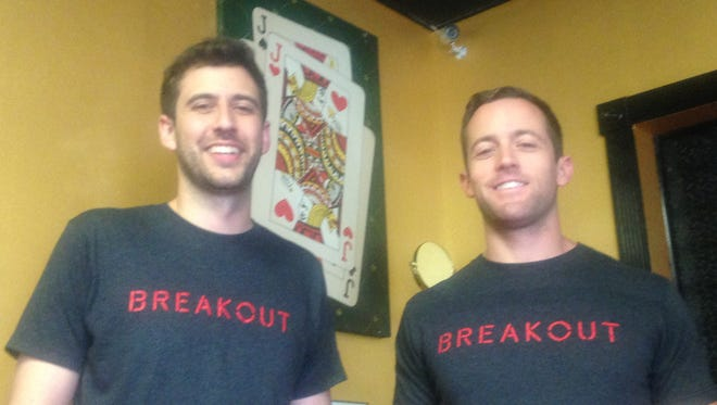 Breakout Montgomery co-owners Josh Sizemore, left and Jeremy Carter, right held a soft opening of their new business Wednesday.