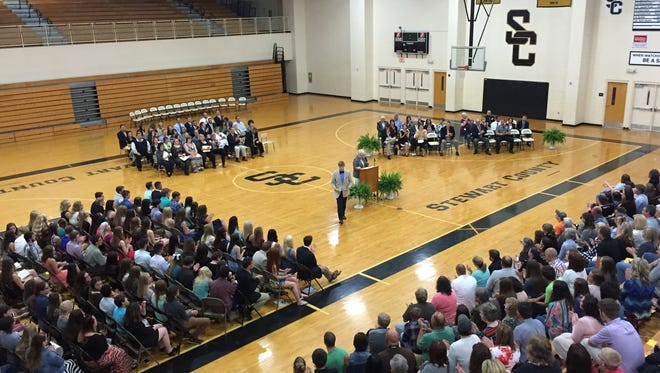 A crowd of family, friends and relatives gathered to see Stewart County High School students recognized for their achievements.