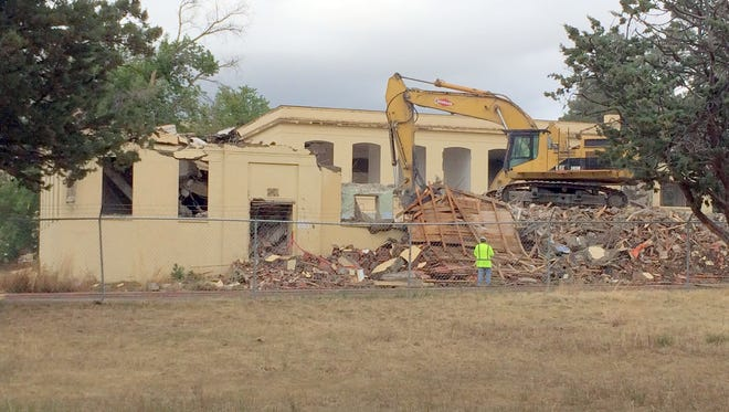 The old Fort Bayard hospital is nearing completion of the demolition of the East Wing.