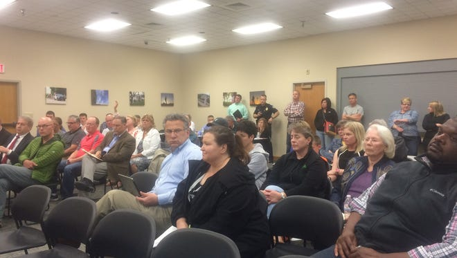 Several Johnston residents attended a meeting Monday when the city considered  condemning a resident's right of way to create a connection from Birchwood Court to Northwest 54th Avenue.