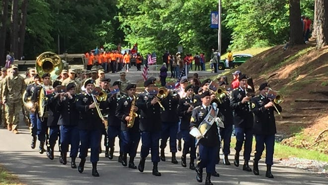 The 101st Airborne Division Band made its first appearance in the Eagle Fest Parade.