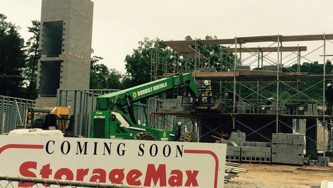 StorageMax on Hendersonville Road represents part of a new trend in Asheville -- multi-story storage units. The three-story facility will have 614 units.