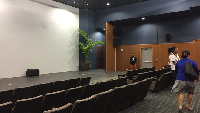 The indoor theater of the Guam Museum shown in this May 24 photo is showing films from 15 island nations throughout the Festival of Pacific Arts.