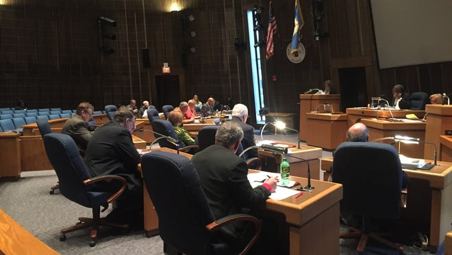 New Castle County Council discusses government's budget for the coming year.