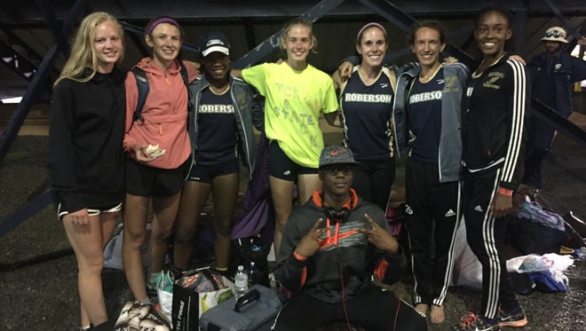 The Roberson girls competed in last week's NCHSAA 4-A track meet held in Greensboro.
