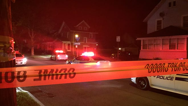 Rochester police on scene at a shooting on Delamaine Drive, near Carter Street, late Wednesday night.