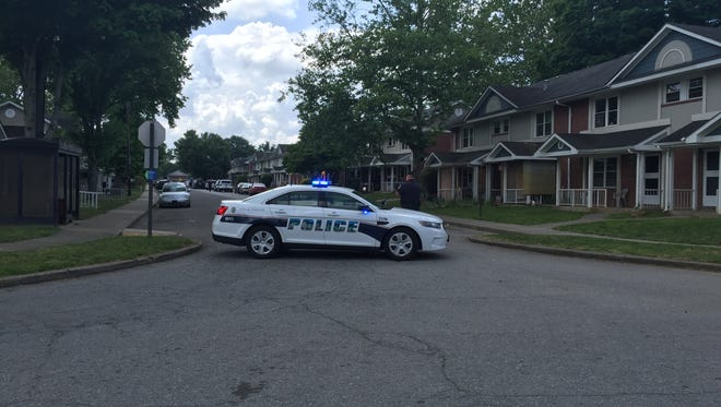 Police responded to a shooting at Hillcrest Apartments.