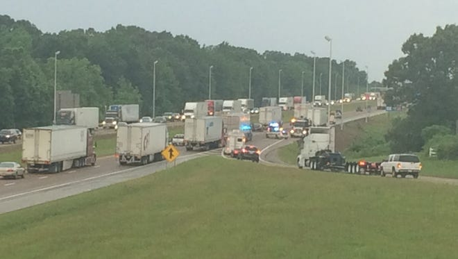 An accident on Interstate 40 westbound near exit 87 delayed traffic Wednesday afternoon.
