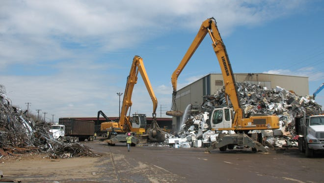 Northern Metal Recycling's Minneapolis facility is pictured in this MPCA photo.