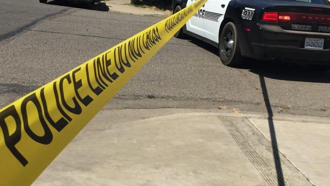 Visalia police investigate shooting in north Visalia.