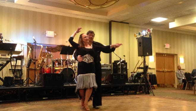 Terry and Ann Cobb dance at Terry Cobb's 50 year class reunion. Cobb graduated with Jackson High's class of 1966.