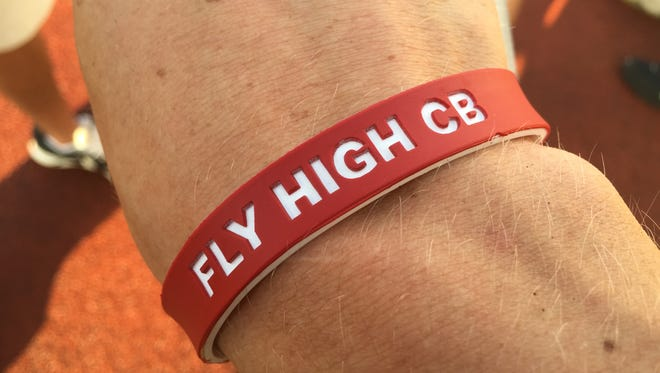 West Lafayette track athetes wore wristbands in memory of teammate Christian Burns, who died Tuesday in a car crash.