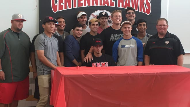 Centennial High baseball player Zack Gonzales signed with New Mexico Military Institute. Gonzales helped Centennial win its first state championship in baseball.