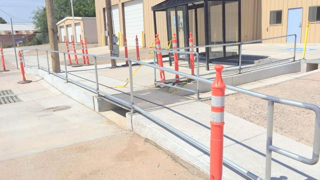 A new sidewalk that is ADA accessible is part of the community development council project that the Village of Santa Clara is utilizing.