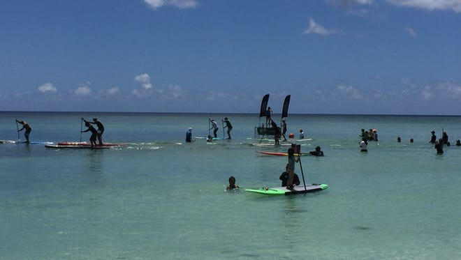 The SUP Fest Paddleboarding Competition was held June 11 in Tumon Bay near the Hyatt Regency Guam.