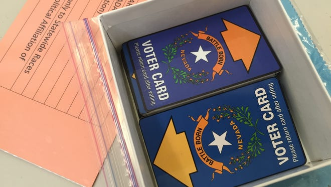 The state's voter cards.