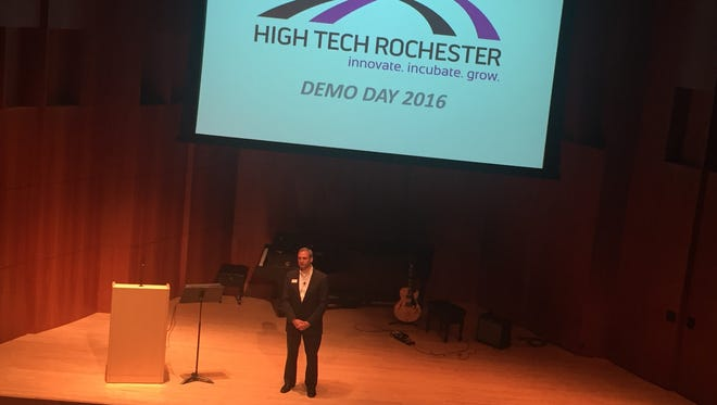 HTR President Jim Senall introduces the audience to the 2016 Demo Days
