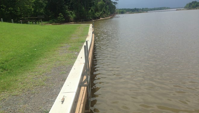 A sea wall similar to the one pictured will be built at the Stoner Avenue and Arthur Teague launches on the Red River.