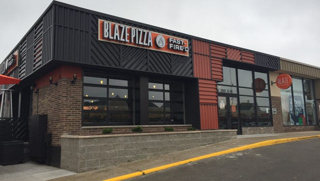 Blaze Pizza opens in the Frandor Shopping Center on Monday, June 20, 2016. It will serve free pizzas on June 21.