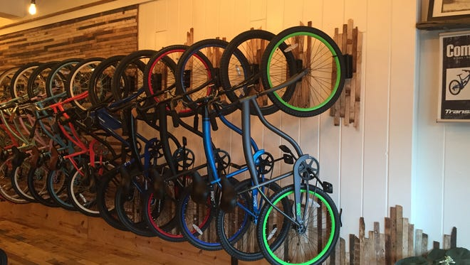 Community Bikes and Boards offers cruising and mountain bikes in its main showroom.