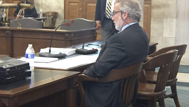 Monmouth County Judge Paul Escandon appears before the Senate Judiciary Committee on June 20.