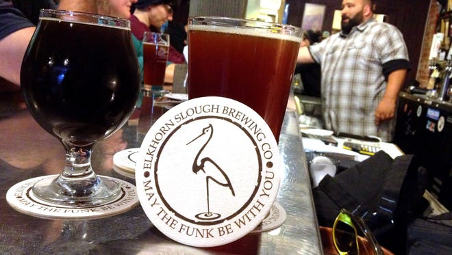 Elkhorn Slough Brewing Co. brought three beers to be featured at XL Public House in Salinas earlier this month.