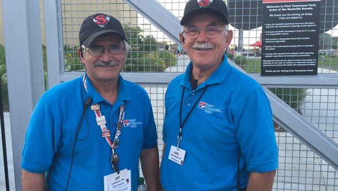 Sounds hosts Jeff Collier (left) and John Harmon have both worked with the organization for more than a decade.
