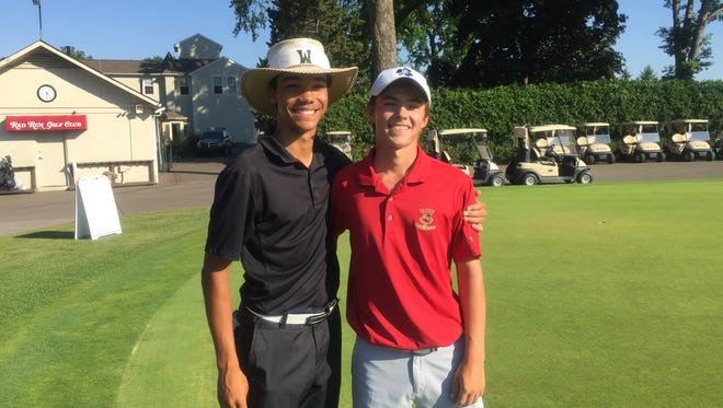 Three-time Mr. Golf winner Andrew Walker, left, and James Piot are both committed to Michigan State.