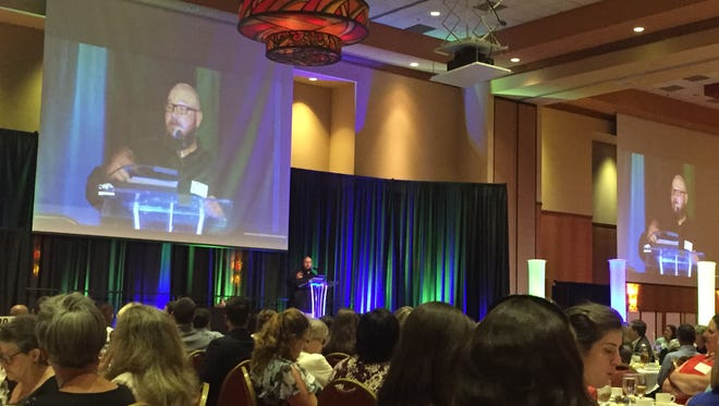 Andy Osborn shares his story at the United Way of Larimer County State of the Community luncheon Thursday, June 23, 2016.