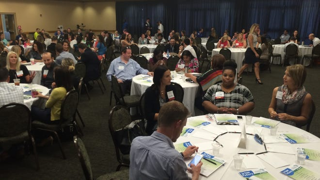 """More than 200 young professionals gathered Wednesday at FGCU's Cohen Center for the """"In Your Future"""" YP summit."""